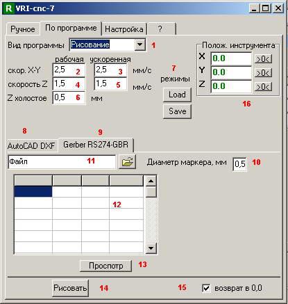Програма VRI-cnc 7.2 работает